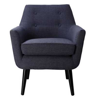 Sadie NAVY LINEN CHAIR - Maren Home