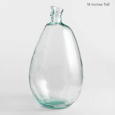 """Clear Barcelona Vases - Glass - 18"""" - World Market/Cost Plus"""