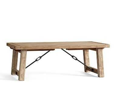 "Benchwright Extending Dining Table, Large 86"" - 122"" L , Seadrift - Pottery Barn"
