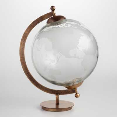 Etched Glass Globe: Metallic by World Market - World Market/Cost Plus