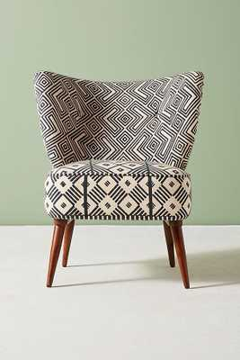 Ulla Accent Chair - Black and White - Anthropologie