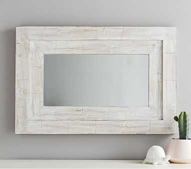 Large Weathered Frame Mirror - Pottery Barn Kids