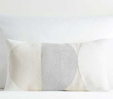 west elm x pbk Corded Cutout Circle Collage Pillow Cover, White - Pottery Barn Kids