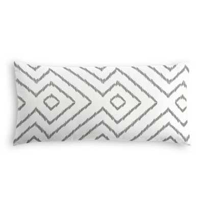 Lumbar Pillow  Optrix - Ash with Down Insert - Loom Decor