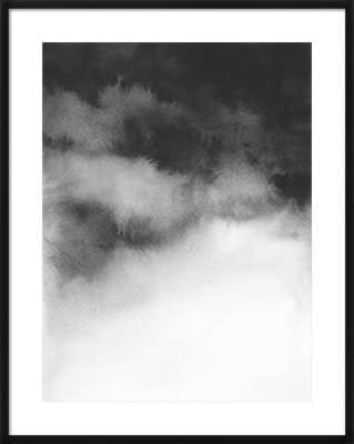 Overcast - Black wood frame with matte - Artfully Walls