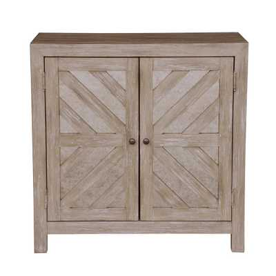 Antique Mirror Two Door Accent Storage Chest - Home Depot