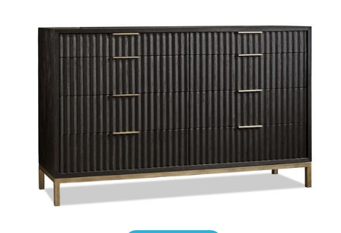 WESTMONT DRESSER BLACK/BRUSHED STEEL - Apt2B