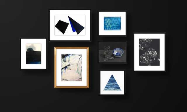 Black and Blue - Gallery Wall - Artfully Walls