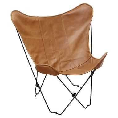 Leather Sling Butterfly Chair cover and frame - Pottery Barn Teen