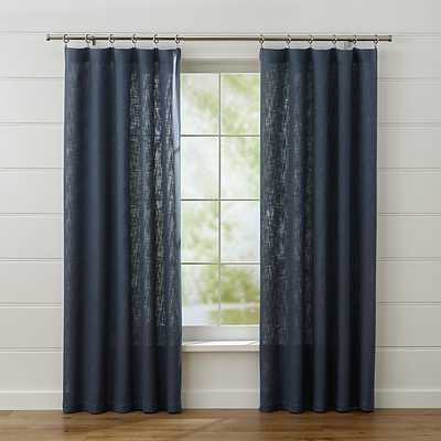 "Lindstrom Blue Curtains - 84"" - Crate and Barrel"