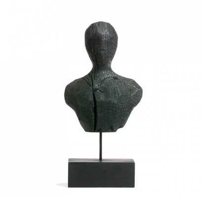 """Charred Busts - 15.25""""H - GoldLeaf Design Group"""