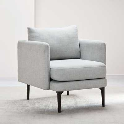 Auburn Chair, Twill, Platinum, Dark Mineral, Individual - West Elm