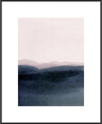 "Dusk scenery - 16"" x 20"" - Matte Black Metal Frame with Matte - Artfully Walls"
