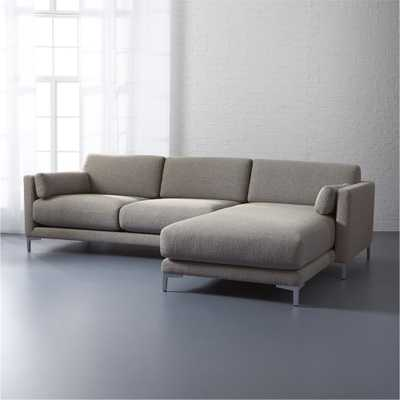 District 2-piece sectional sofa *Vibe Smokey/ right chaise* - CB2