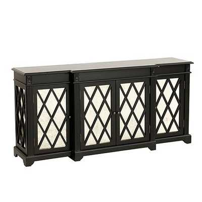 Lyon Mirrored Sideboard - Black - Ballard Designs
