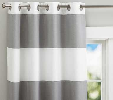 "Hayden Rugby Blackout Panel, Gray, 84"" - Pottery Barn Kids"