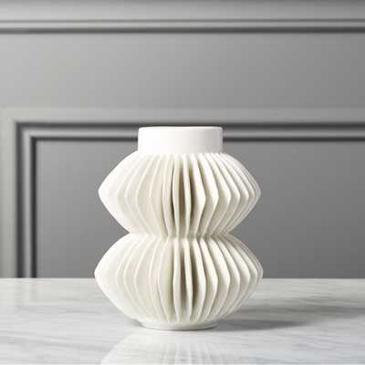 Celia White Vase - 5.75H - CB2