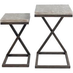 Elder Accent Table - Set of 2 - Neva Home