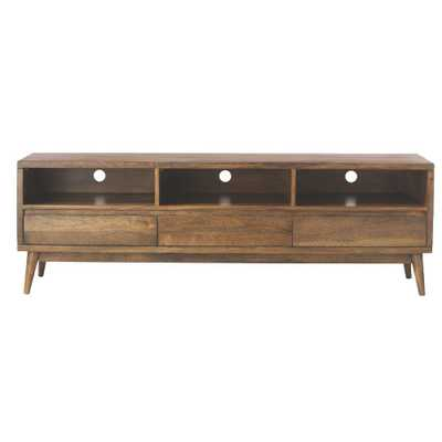 Conrad Antique Natural Entertainment Center - Home Depot