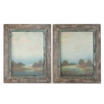 Morning Vistas, S/2 - Framed - Hudsonhill Foundry