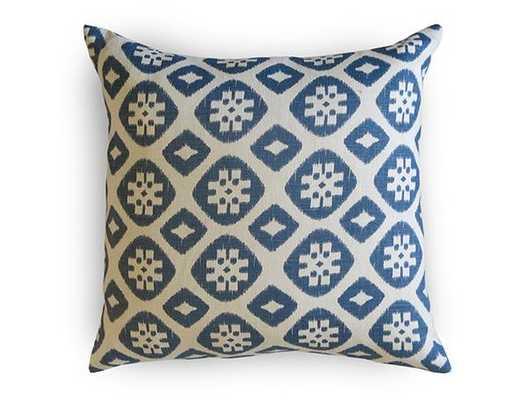 "Piper Linen Indigo Pillow Cover- 18"" x 18""- Insert Sold Separately - Willa Skye"