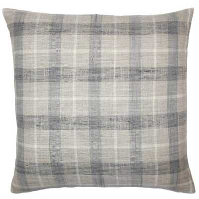 "Quinto Plaid Pillow Metal - 20"" x 20"" - Linen & Seam"