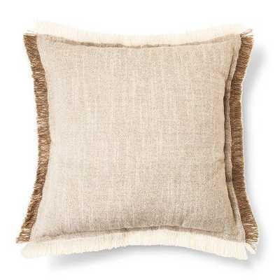 "Self Fringe Decorative Pillow Cream - 18"" x 18"" - Polyester fill - Target"