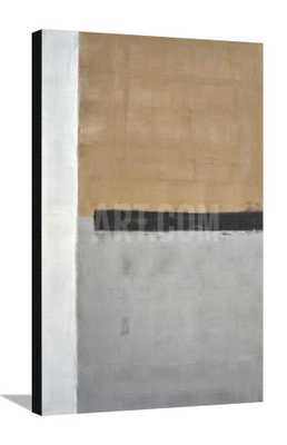 """GREY AND BROWN ABSTRACT ART PAINTING - 29"""" x 45"""", CANVAS - Unframed, No Mat - art.com"""
