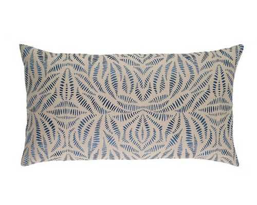FOSSIL EMBROIDERED INDIGO DECORATIVE PILLOW - Pine Cone Hill