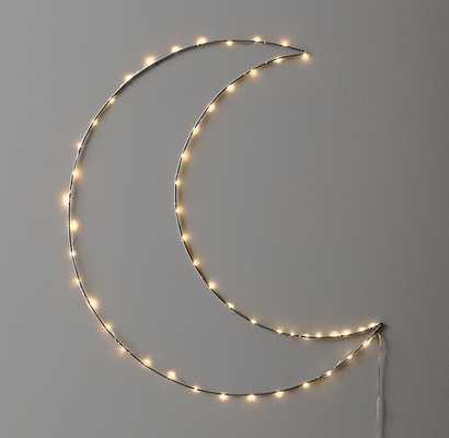 STARRY LIGHT WALL DÉCOR - MOON - RH Baby & Child