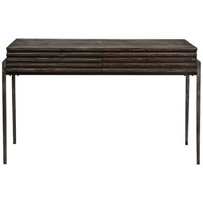 Uttermost Morrigan Walnut 2-Drawer Wood Console Table - Lamps Plus