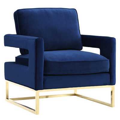Aubrey Navy Velvet Chair - Maren Home