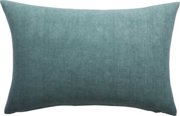 "18 ""x 12 "" Linon Arctic Blue Pillow with Down-Alternative Insert - CB2"