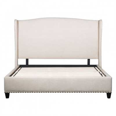 Enlightenment King Bed Beige - Zuri Studios