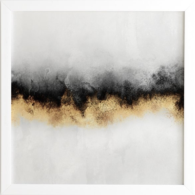 "BLACK AND GOLD SKY, 30"" x 30"" - Wander Print Co."