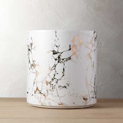 palazzo medium marbleized planter - CB2