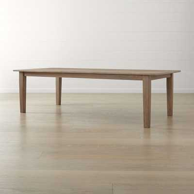 """Basque Grey Wash 104"""" Dining Table - Crate and Barrel"""