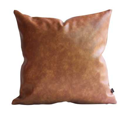 Kdays Thick Faux Leather Pillow Cover Tan Decorative For Couch Throw Pillow Case Brown Leather Cushion Cover Solid Color Leather Pillow - Amazon