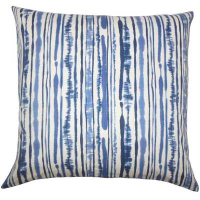 "Jumoke Striped Pillow Navy - 18"" x 18"" -  Down insert - Linen & Seam"