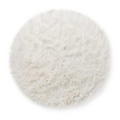 Faux Fur Rug (3' Round) White - Target
