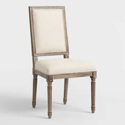 Natural Linen Square Back Paige Dining Chairs Set Of 2 by World Market - World Market/Cost Plus