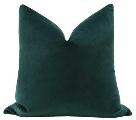 "Classic Velvet // Emerald Pillow Cover - 18"" x 18"" - Little Design Company"
