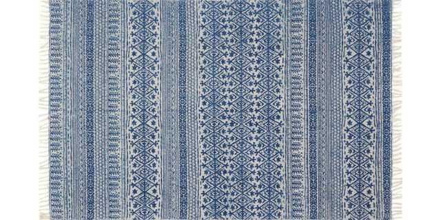 """JE-01 BLUE Rug - 2'-3""""x3'9"""" - Loma Threads"""
