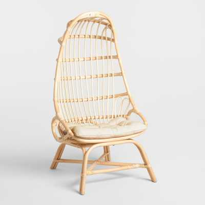 Natural Rattan Fallon Cocoon Chair with Cushion by World Market - World Market/Cost Plus