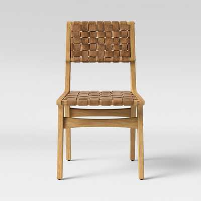 Ceylon Woven and Wood Dining Chair Brown And Natural - Opalhouse™ - Target
