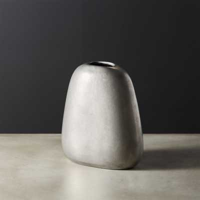 Ellipse Small Silver Vase - CB2