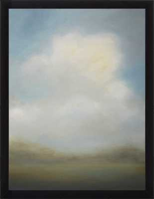 """Misted Morning, 16""""x20"""", Large Contemporary Black Frame, No Mat - Artfully Walls"""