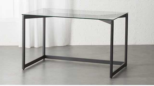 tesso black desk - CB2