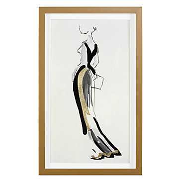 Evening Gold -15.75''W x 25.75''H  Framed - Z Gallerie