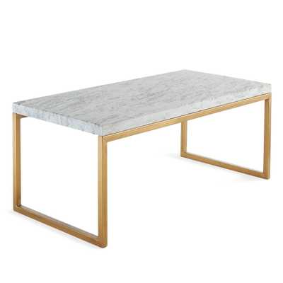 MODERN MARBLE & IRON COFFEE TABLE - Wisteria